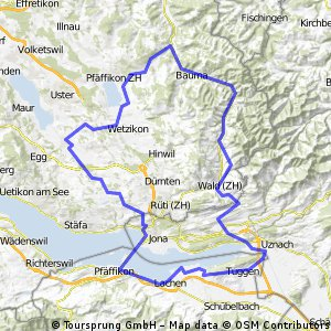 Tösstal Rundtour (90km)