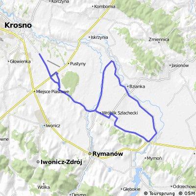 Milcza - Targowiska - Łężany - Wróblik - Haczów - Bzianka - Besko
