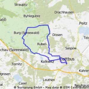 BRT2013 31.07.13 - Tour de Spreewald - RTF des Radsportclub Cottbus e.V. - Veloteam - 45 km Strecke