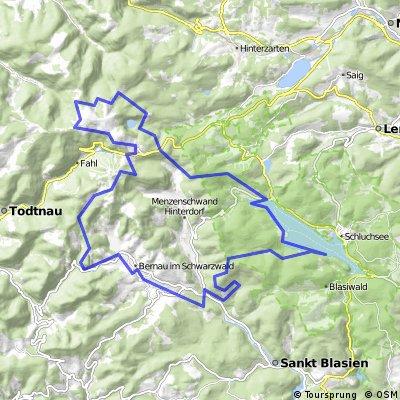 Bernau - rund um den Feldberg - Schluchsee - Bernau