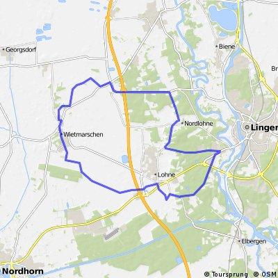 Grafschafter Fietsentour 8 ca. 38km