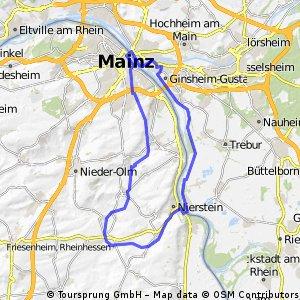 Rheinhessen zum Rheinstrand in MZ-Kastel