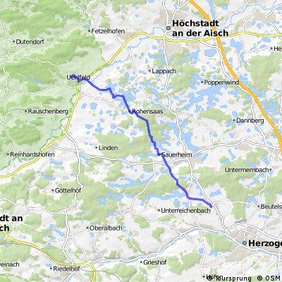 Uehlfeld nach Hammerbach zum Lindenhof