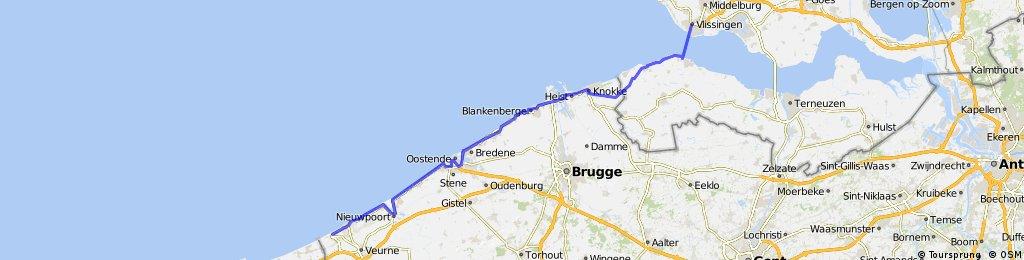 de panne - vlissingen (LF1 belgium route)