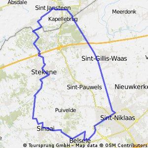 St Jansteen - St-Niklaas - Sinaai - Stekene