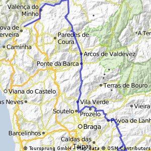 Vila Nova de Cerveira- Fafe (3º etapa)