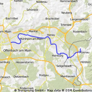 Alzenau -> Offenbach Hafen