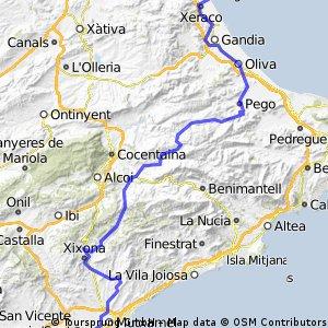 Ruta 15 Agosto (San Vicente - Xeraco)