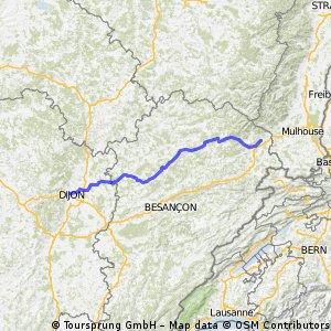 Belfort Dijon  180 km