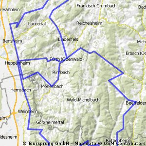 Große bergige Odenwaldrunde