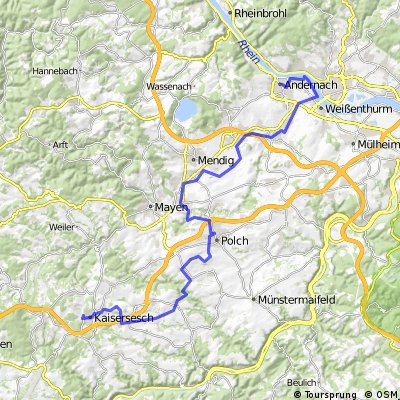 Maifeld Vulkaln-Eifel Radweg