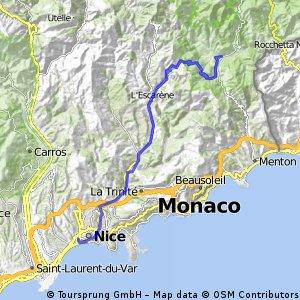 Sospel - Col de Braus - Nizza