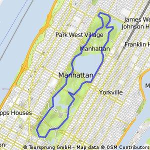 Lauf - New York - Central Park | Bikemap - Deine Radrouten Central Park Bike Map on