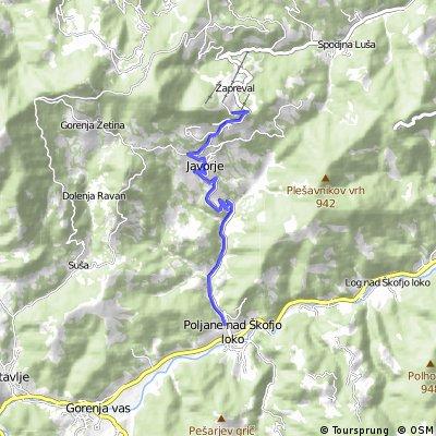 Trasa kolesarske dirke Poljane - Stari vrh CLONED FROM ROUTE 434600