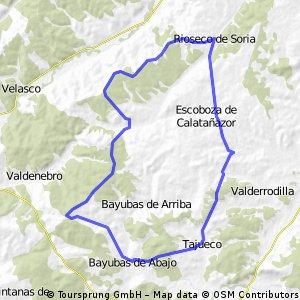 Tajueco-Bayubas de abajo- Boos- Rioseco- Tajueco