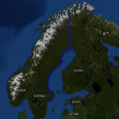 Alta (NOR) - Stockholm (S), 1830km (Flug), 2012-07-25