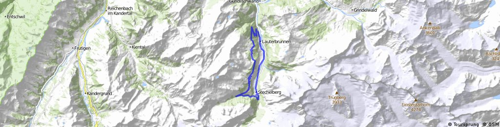 Lauterbrunnen - Winteregg - Murren - Gimmelwald ... on eiger map, schaffhausen map, hook of holland map, montreux map, verbier map, grosse scheidegg map, st. moritz map,