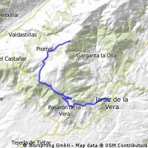 Jaraiz de la Vera - Puerto de Piornal (por Pasarón)