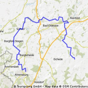Steinhorst - Ahrensburg lang (an BO vorbei)