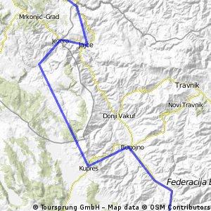 Za Makljen - Wybrzuszenie w kanionie Vrbas