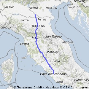 Ostiglia (ca. 45 km südlich von Verona) - Rom