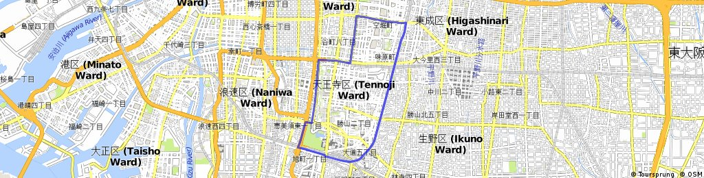 Tennoji Ward | Bikemap - Your bike routes
