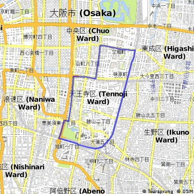 Cycling routes and bike maps in and around Osaka | Bikemap - Your ...
