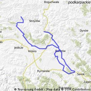 Strzyżów-Brzozów-Zaszyn  - Sanok -Starachocina-Korczyna -Niewodna