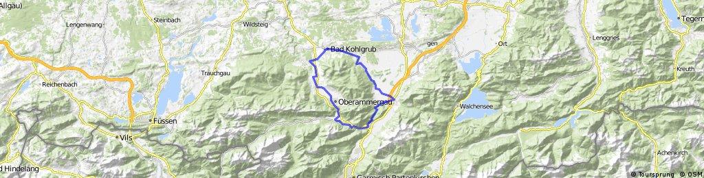 Von Eschenlohe um die Ammergauer Alpen