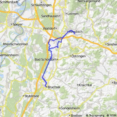 Dielheim - Bruchsal - Dielheim