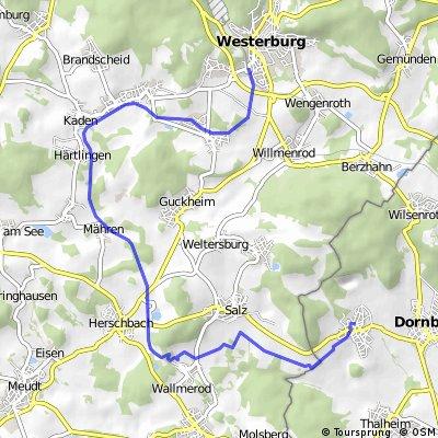 Dorndorf über Bahndamm nach Westerburg