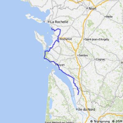 Chatealaillon-Plage to Braud-et-Saint-Louis