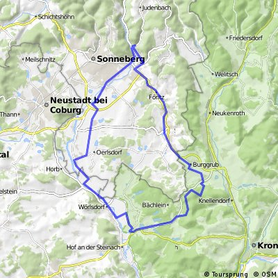 Sonneberg-Mitwitz-Sonneberg