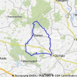 Schöner Rundkurs über Collm,Oschatz, Dahlen