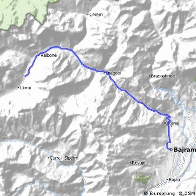 Valbona valley route