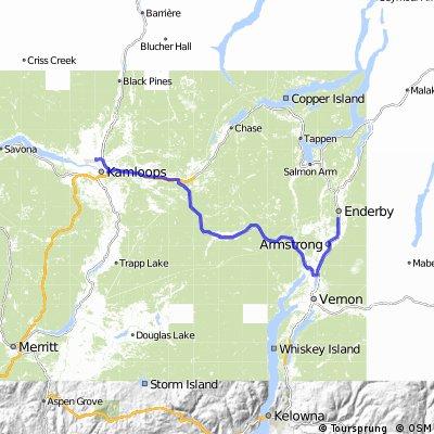 Kamloops to Enderby via Vernon