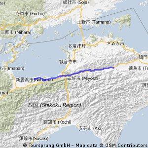 Cycling Routes And Bike Maps In And Around Niihama Bikemap - Niihama map