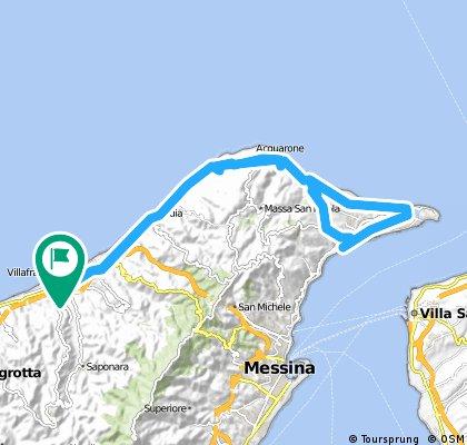 Rometta Marea - Ganzirri - Faro Superiore - Rometta Marea