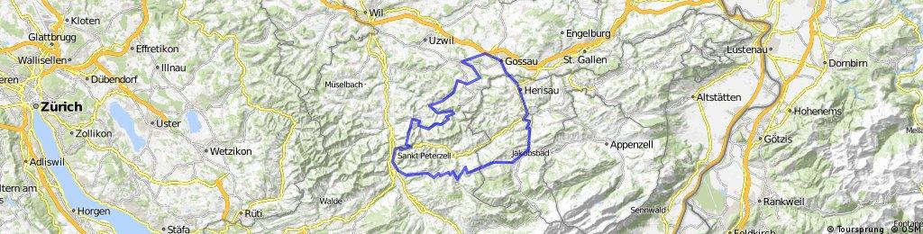 Herisau Oberhelfenschwil Hemberg Schönau CLONED FROM ROUTE 165050