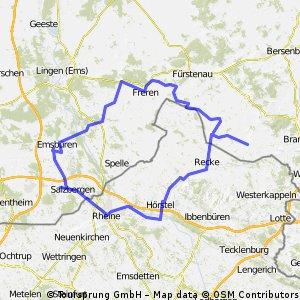Von Neuenkirchen nach Emsbüren und zurück