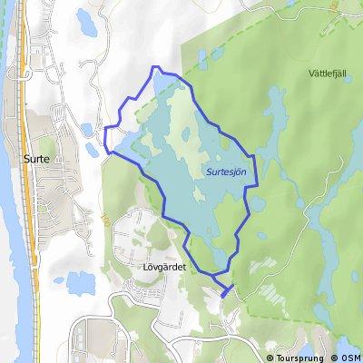 Surtesjön - Vättlefjäll