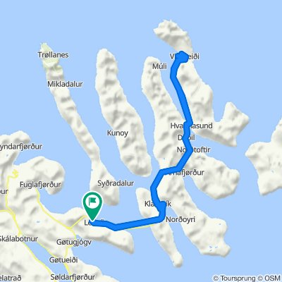 2012 - Faerské ostrovy, Leirvík - Klaksvík - Vidareidi - Leirvík