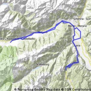 Latsch - Meran - Gampenpass -Latsch