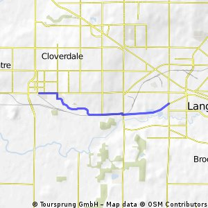 Cycling routes and bike maps in and around Langley Bikemap Your