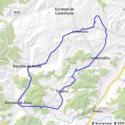 Valderrodilla (Molino del huevo)- La Torre- Valverde- Bayuvas d Arriba, y de Abajo- Tajueco (por camino)