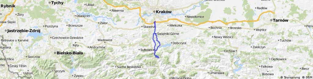 Kraków - Góra Chełm - Kraków