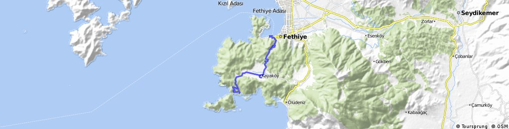 B&B Türkei - Gemeler-Fethiye Road