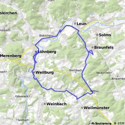Braunfels via Möttau nach Weilburg, Lahnbahnhof