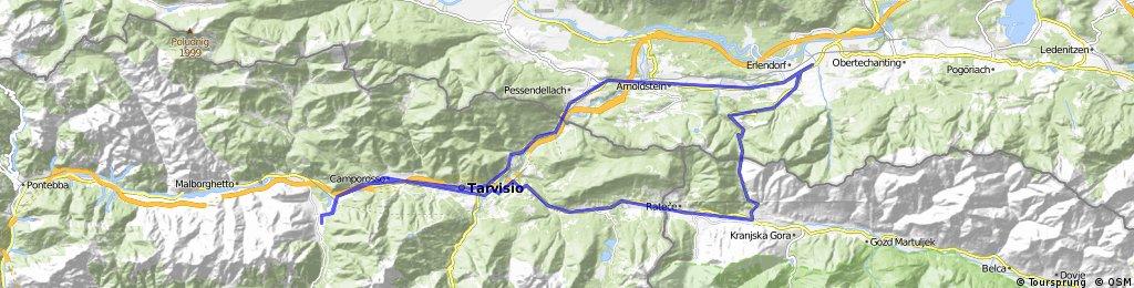 Valbruna-Slovenia-Wurzenpass-Tarvisio-Valbruna