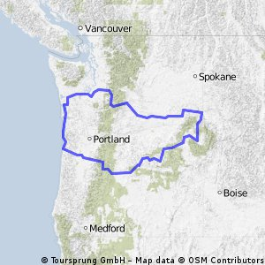 Back and forth across WA and OR